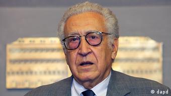 Brahimi, speaks during a press conference in Beirut, Lebanon, Wednesday, Oct. 17, 2012. Photo:Bilal Hussein/AP/dapd