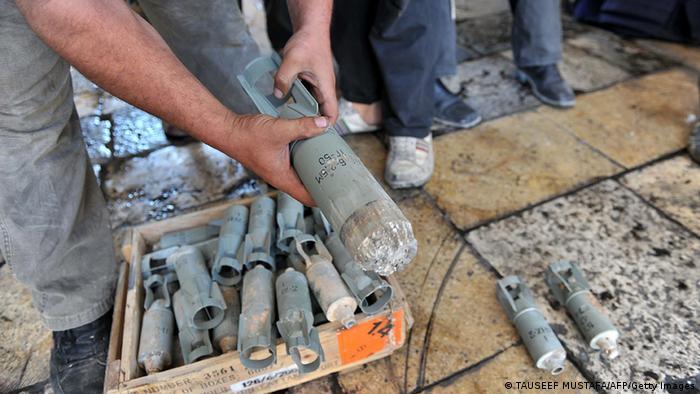 Syrien Bürgerkrieg Aufständische Maaret al Numen Regierungstruppen Streubomben