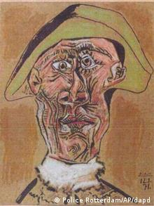 This photo released by the police in Rotterdam, Netherlands, on Tuesday, Oct. 16, 2012, shows the 1971 painting 'Harlequin Head' by Pablo Picasso. Dutch police say seven paintings stolen from the Kunsthal museum in Rotterdam include one by Pablo Picasso, one by Henri Matisse, and two by Claude Monet. The heist, one of the largest in years in the Netherlands, occurred while the private Triton Foundation collection was being exhibited publicly as a group for the first time. (Foto:Police Rotterdam/AP/dapd)