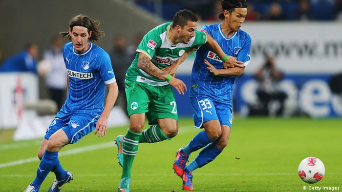 Sercan Sararer (C) of Greuther Fuerth is challenged (Photo: GettyImages)