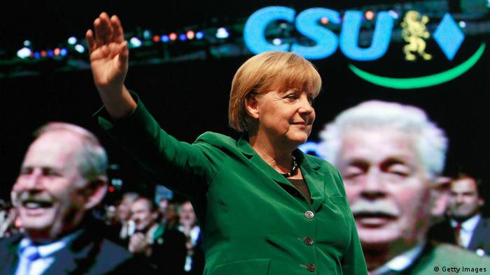 München, CSU-Parteitag, Kanzlerin Merkel,(Photo by Johannes Simon/Getty Images)