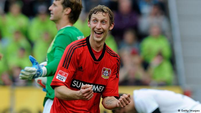 Stefan Kiessling jubelt nach einem Treffer gegen Mainz 05. (Photo by Thorsten Wagner/Bongarts/Getty Images)