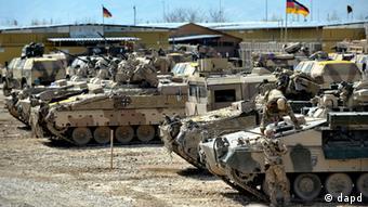 Bundeswehrpanzer (Foto: dapd)