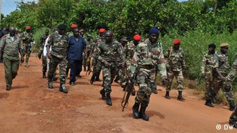 A group of soldiers in Guinea Bissau Photo: Braima Darame DW