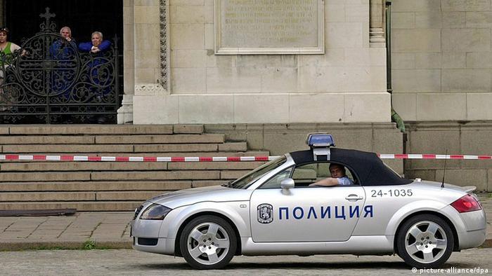 Polizeiauto in Sofia, Bulgarien
