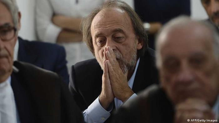 Verurteilte italienische Forscher nach der Urteilsverkündung (Foto: AFP/Getty Images)