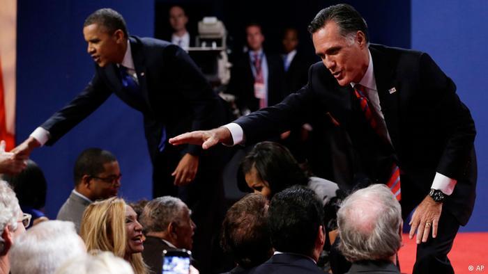 USA TV-Duell Mitt Romney Barack Obama Boca Raton