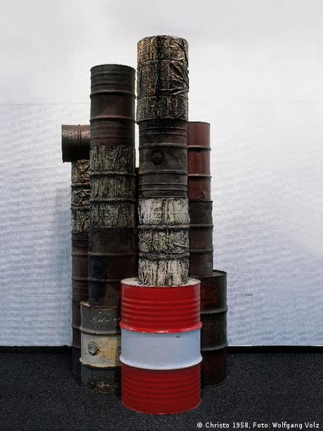 Christo, Wrapped Oil Barrels (1958/1959)