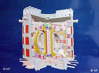 Modelo de reactor termonuclear por fusión.