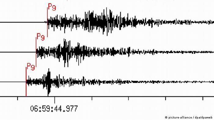 Die Ausschläge auf dem Seismographen der Stationen (Bild: dpa)