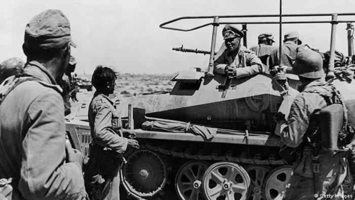 Erwin Rommel na Líbia em junho de 1942