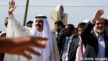 Sheikh Hamad bin Khalifa al-Thani in Gaza