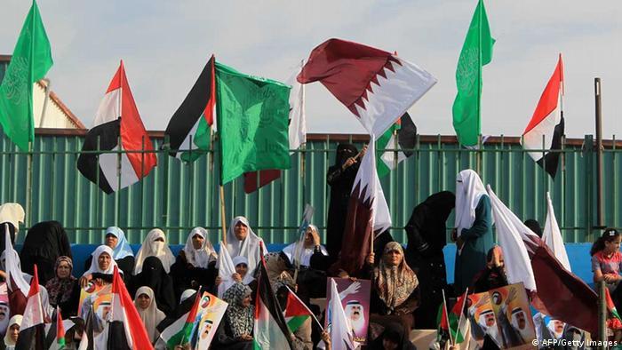 Qatar Sheik Hamad bin Khalifa al-Thani in Gaza