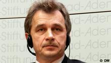 Podiumdiskussion in der Konrad Adenauer Stiftung: Opponieren gegen Lukaschenko. Anatolij Lebedko, Vorsitzender der Vereinigten Bürgerpartei, Weisrussland Aufgenommen von mir in Berlin am 23.10.2012, Nikita Jolkve.