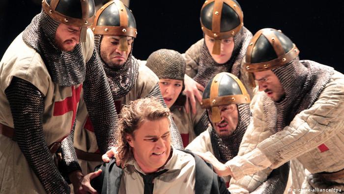 Vogt interpretando el papel de Parsifal en la Ópera Alemana de Berlín en el año 2012.