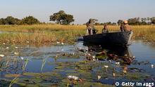 Botswana Fluß Okavango Boot