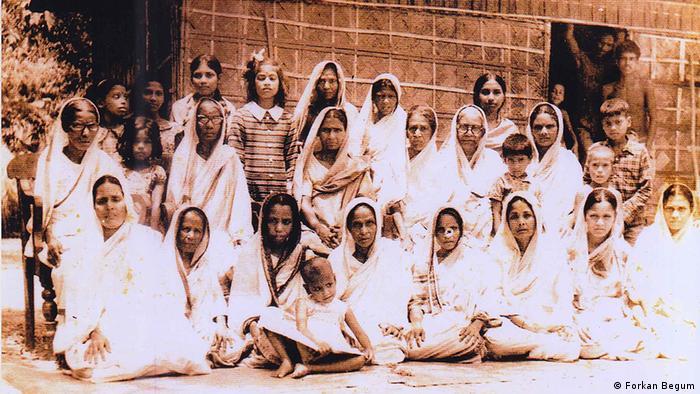 Bangladesch Geschichte Freiheitskämpferin Forkan Begum und andere Flüchtlingen in Agartala in 1971