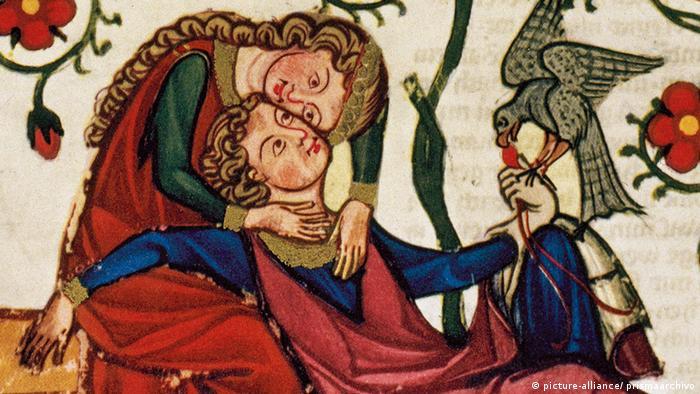 Einband der Manessischen Liederhandschrift Konrad von Altstetten