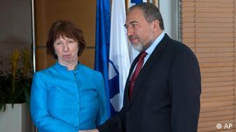 EU Israel Catherine Ashton Avigdor Lieberman Photo:Sebastian Scheiner/AP/dapd)