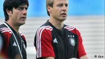 Klinsmann with assistant Joachim Löw during training