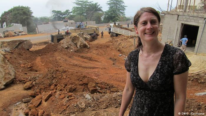 Kate Hairsire, Trainerin der DW Akademie in Freetown, Sierra Leone; Copyright: DW/C. Springate