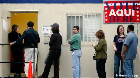 Voters wait in line to cast ballots in Texas (Getty Images)