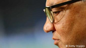 Head coach Felix Magath of Wolfsburg looks on prior to the Bundesliga match between FC Schalke 04 and VfL Wolfsburg at Veltins-Arena on October 6, 2012 in Gelsenkirchen, Germany. (Photo by Christof Koepsel/Bongarts/Getty Images)