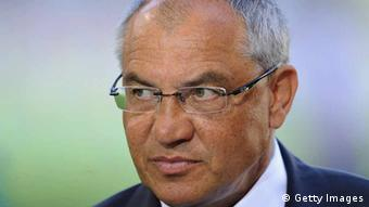 WOLFSBURG, GERMANY - APRIL 24: Felix Magath, head coach of Wolfsburg looks on during the Bundesliga match between VfL Wolfsburg and 1. FC Koeln at Volkswagen Arena on April 24, 2011 in Wolfsburg, Germany. (Photo by Stuart Franklin/Bongarts/Getty Images) *** Local Caption *** Felix Magath;