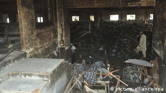 Pakistan Karachi Textilfabrik Brand Feuer