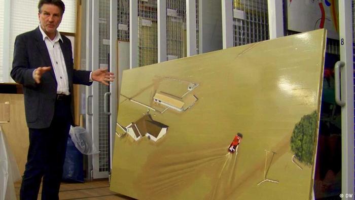 Кристоф Шрайер в картиной ''Без названия'' кисти Дирка Скребера