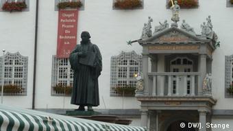 Памятник Мартину Лютеру в Виттенберге