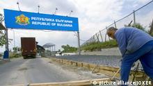 Kapitan Andrejewo. Grenzuebergang Bulgarien-Tuerkei (kuenftige EU-Schengen-Aussengrenze): Ausbau der LKW-Abfertigung mit EU-Mitteln fuer den stark gestiegenen Schwerlastverkehr. Kapitan Andrejewo, Thrakien, Bulgarien, 05.05.2006