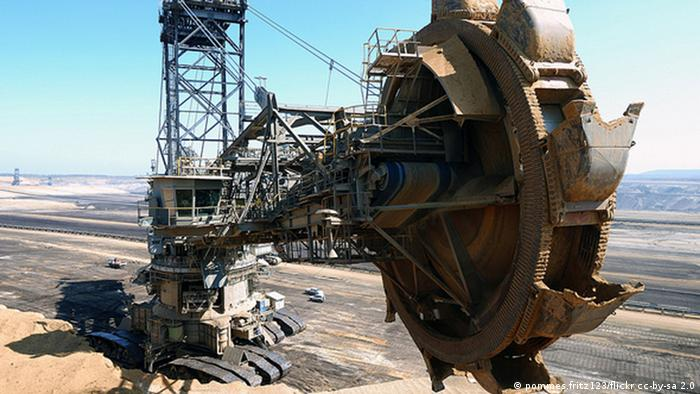A lignite coal excavator