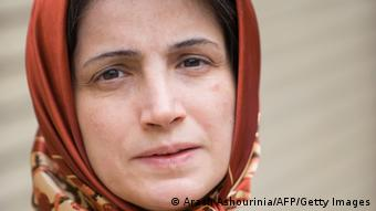 KOMBO Iranian lawyer Nasrin Sotoudeh is seen in Tehran on November 1, 2008. Sotoudeh was sentenced to 11 years in prison for defending opposition members after the disputed re-election of President Mahmoud Ahmadinejad in 2009. A dozen lawyers defending human rights cases and opposition members are currently imprisoned in Iran, according to Amnesty International, which describes them as prisoners of conscience. AFP PHOTO/ARASH ASHOURINIA === IRAN OUT === (Photo credit should read Arash Ashourinia/AFP/Getty Images))