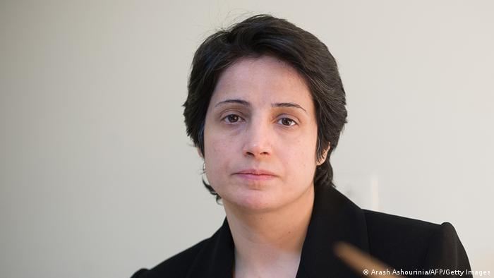 Iranian lawyer Nasrin Sotoudeh is seen in Tehran on November 1, 2008. Sotoudeh was sentenced to 11 years in prison for defending opposition members after the disputed re-election of President Mahmoud Ahmadinejad in 2009. A dozen lawyers defending human rights cases and opposition members are currently imprisoned in Iran, according to Amnesty International, which describes them as prisoners of conscience. AFP PHOTO/ARASH ASHOURINIA === IRAN OUT === (Photo credit should read Arash Ashourinia/AFP/Getty Images)