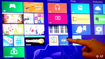Windows 8 Touchscreen Finger wischen