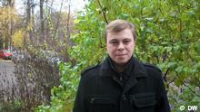 Auf dem Bild ist der belorussische Menschenrechtler Wladimir Labkowitsch. Copyright DW Fotograph: Korrespondent Gennadij Kesner, Ort: in Minsk, Datum: 25.10.12