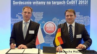 Представители Польши и CeBIT
