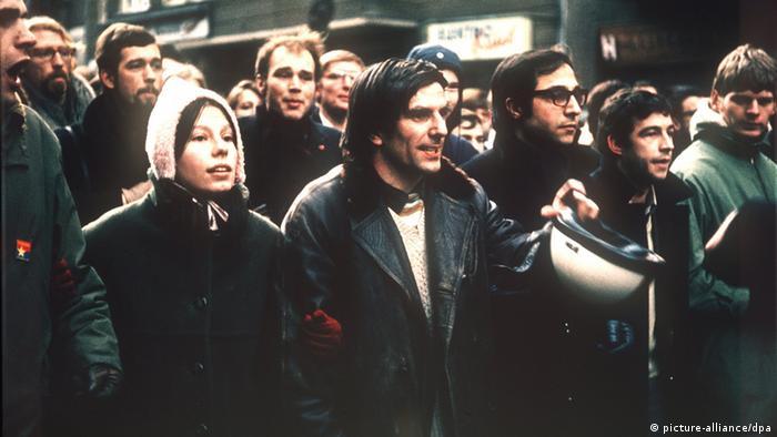 Gretchen and Rudi Dutschke at a demonstration