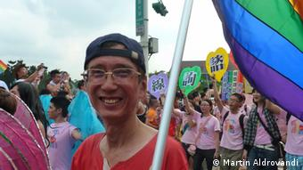 Chi Chia-wei at the Taipei gay pride parade, 2012; Photo: DW/Martin Aldrovandi