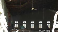 A view of the inside of a church in Kaduna which was targeted by a suicide attacker who detonated a car filled with explosives, in Kaduna, Nigeria, on October 28, 2012. The suicide bombing sparked fierce reprisals that saw a Christian mob burn a man alive in day of a bloody of violence that left at least 10 people dead and 145 wounded. Christian youths took to the streets of the northern city of Kaduna with machetes and sticks after the blast, targeting those they believed to be Muslims as anger again boiled over due to repeated church bombings in recent months. AFP PHOTO / STRINGER (Photo credit should read STRINGER/AFP/Getty Images)