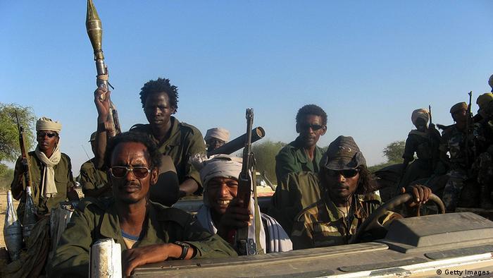 Des rebelles tchadiens en décembre 2007 à Abougoudam