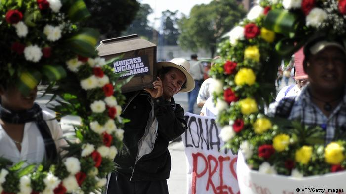Guatemala Stadt Protest Polizei Gewalt