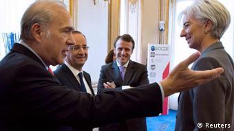 Gurría y Lagarde en París, el año pasado.