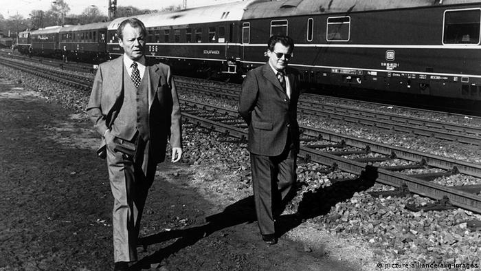Willy Brandt mit Günter Guillaume. (Foto: picture-alliance)