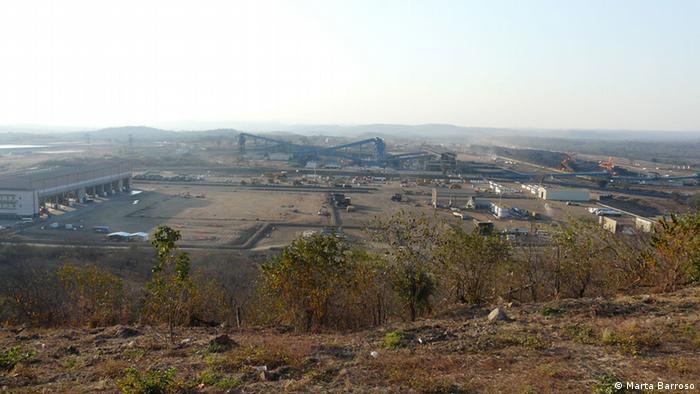 A mina de carvão operada pela Vale em Moatize é considerada uma das maiores do mundo