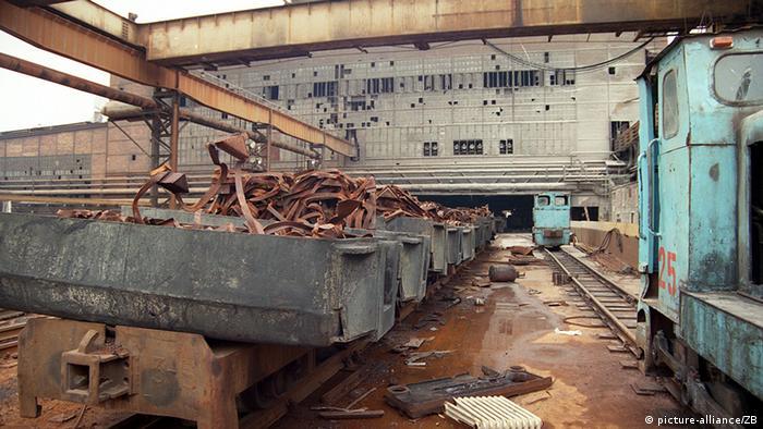 Uma fábrica abandonada em Brandemburgo