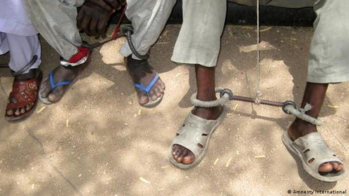 Political prisoners in Chad. Photo: Amnesty International