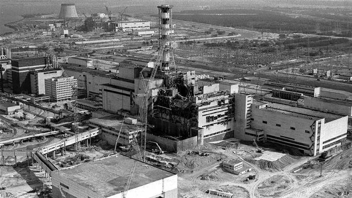 This 1986 aerial view of the Chernobyl nuclear plant in Chernobyl, Ukraine shows damage from an explosion and fire in reactor four on April 26, 1986 that sent large amounts of radioactive material into the atmosphere. The Chernobyl nuclear disaster spewed radiation over much of northern Europe and claimed thousands of lives. (AP Photo/Volodymyr Repik)