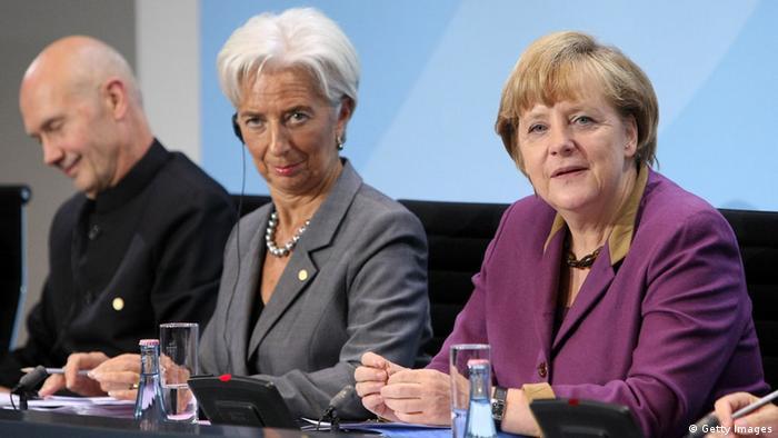 Merkel trifft Vertreter internationaler Wirtschaft (Getty Images)